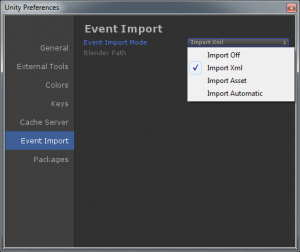 Event Import Preferences